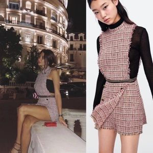 d84191d13fd Zara Pants - Zara blogger fav tweed jumpsuit